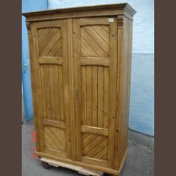 Country pine 2-door armoire /original wax finished product