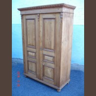 Country pine 2-door armoire  /original item, wax finished condition
