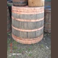 Old wooden storage vessel