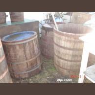Old wooden storage vessel / open top