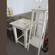Fenyő asztalka és virágállvány / eredeti darabok / késztermék