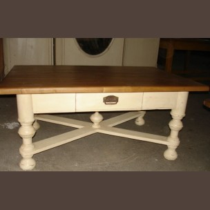Pine table / original old item, fully restored condition