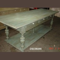 Decorative dining table (reclaimed pine)